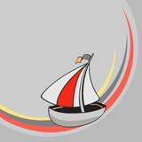 Little funny sailing ship Royalty Free Stock Image