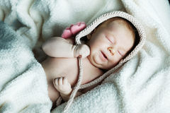 Little funny sleepeng baby Royalty Free Stock Photos