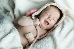 Little funny sleepeng baby Stock Photo