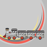 Little funny train Royalty Free Stock Image