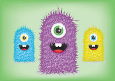 Little furry monsters Royalty Free Stock Photos