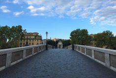 Bridges of Rome - Ponte Sisteo royalty free stock image
