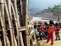 Little gangsters in Sapa. A group of little local children in Sapa Stock Photography
