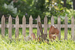 Little garden fence Stock Photo
