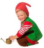 Little garden gnome stock photo