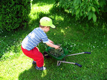 Little gardener Stock Photos
