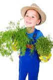 Little gardener with aromatic herbs Royalty Free Stock Images