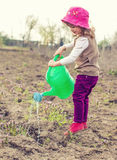Little gardener girl Stock Photography