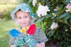 Little gardener Stock Image