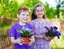 Little gardeners Royalty Free Stock Photos