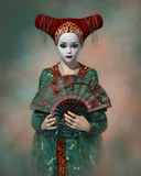 Little Geisha, 3d CG Royalty Free Stock Photo
