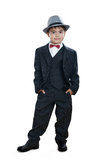 A little gentleman standing straight royalty free stock image