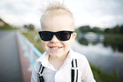 Little gentleman with sunglasses Stock Image