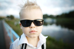 Little gentleman with sunglasses Stock Photography
