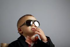 Little gentleman with sunglasses Stock Photos
