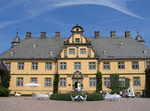 Little German castle with ornaments Stock Images