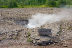 Little geysir geyser iceland Stock Images