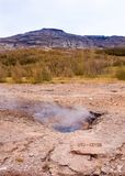 Little geysir, Haukadalur valley,  southwestern Iceland Royalty Free Stock Photo