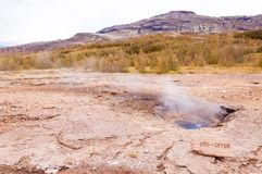 Little geysir, Haukadalur valley,  southwestern Iceland Stock Photography