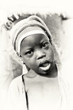 Little Ghanaian girl smiles Royalty Free Stock Photos