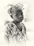 Little Ghanaian girl smiles Stock Photography