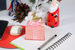 Little gift box for Christmas day. Stock Photo