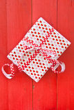 Little gift box with hearts Stock Photography