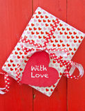 Little gift box with hearts Royalty Free Stock Image