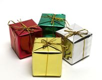Little gift boxes. Four little gift boxes Stock Image