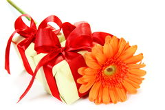 Little Gifts and Flower Stock Image