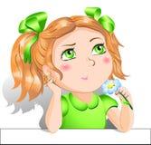 Little girl. Pretty little girl with flower Stock Image