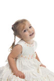 Little girl. The little girl in a beautiful dress Stock Photos