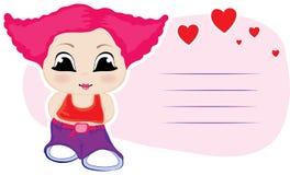 Little girl. Element  for design  illustration Stock Photography