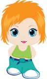 Little girl. Element  for design  illustration Royalty Free Stock Images