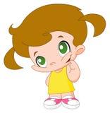 Little girl. Illustration of a little girl Stock Photo
