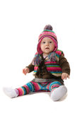 A little girl. Little girl in winter hat and waistcoat Stock Image