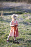 Little girl. A portrait of a little girl standing outside Royalty Free Stock Images