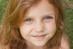 Little girl. Portrait of a happy little girl smiling Royalty Free Stock Photo