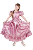 Little girl. Little beautiful girl in the fashion dress Stock Images