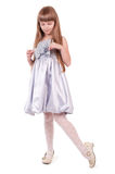 Little girl. Little beautiful girl in the fashion dress Stock Photo