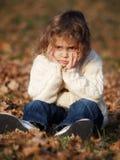Little girl. Outdoor portrait little girl during autumn stock image