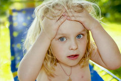 The little girl. Royalty Free Stock Photography