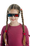 Little girl with 3-D glasses. An image of a girl with 3-D glasses royalty free stock images