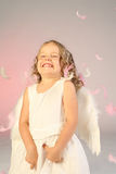 Little girl. A four year old girl as an angel Royalty Free Stock Photography
