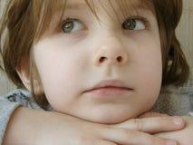 Little girl 4. Little pretty dreaming girl portrait Stock Photography