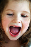 Little girl. Close-up of a little girl laughing Royalty Free Stock Image