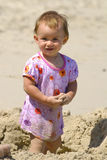 The little girl. On a beach Royalty Free Stock Image