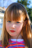 Little Girl. Looking very serious Stock Image