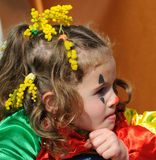 Little Girl. A cute little girl with carnival make-up Stock Photography