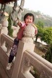 The little girl stock photo